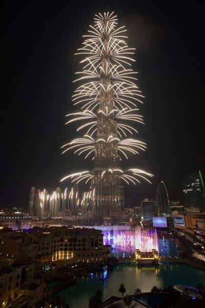 Burj Khalifa Feuerwerk