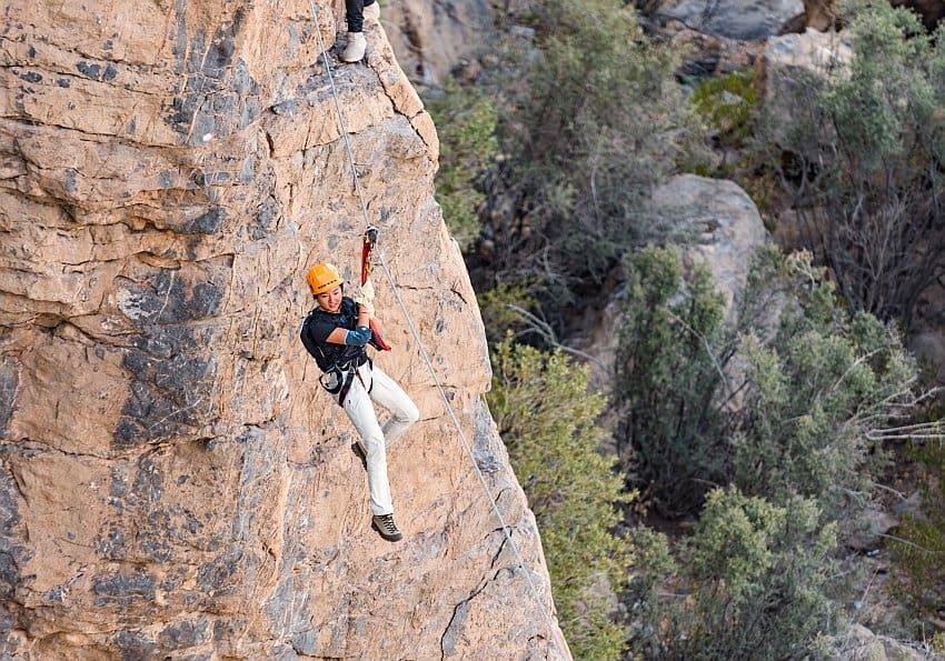 Anantara Jebel Akhdar Klettern
