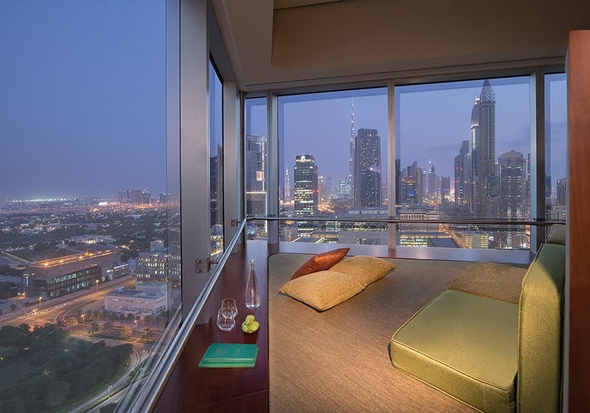 Ausblick Jumeirah Emirates Towers