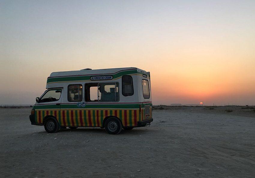 Eiswagen Wüste Blogformat