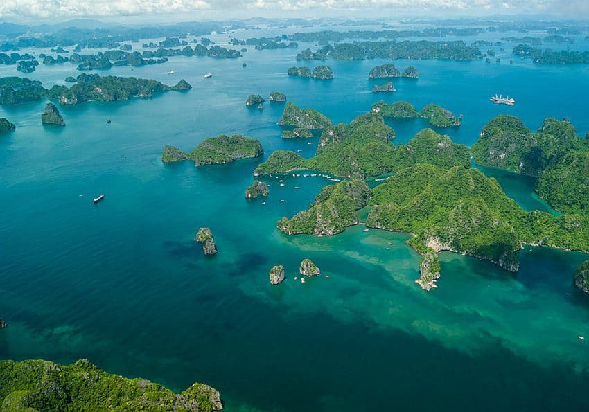 Vietnam Nordvietnam Halong Bucht