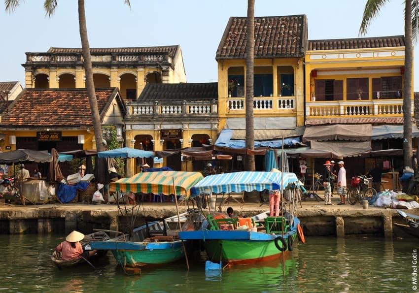 Bootsanlegestelle in der Altstadt von Hoi An