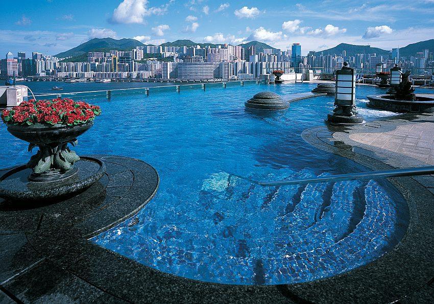 Hongkong Harbour Grand Kowloon Rooftop Swimming Pool