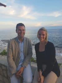 Kim Pranke (EWTC) und Karl Schneider (Losinj Hotels & Villas) im Gespräch