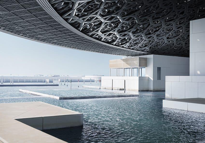 Blick in den neune Louvre Abu Dhabi