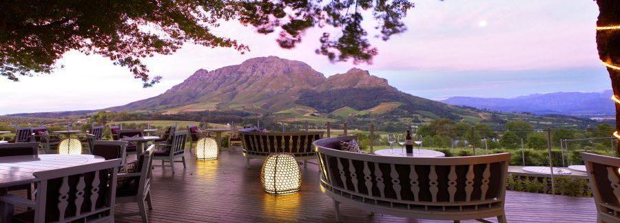 Südafrika Delaire Graff Estate Lodges Spa Delaire Sunset View