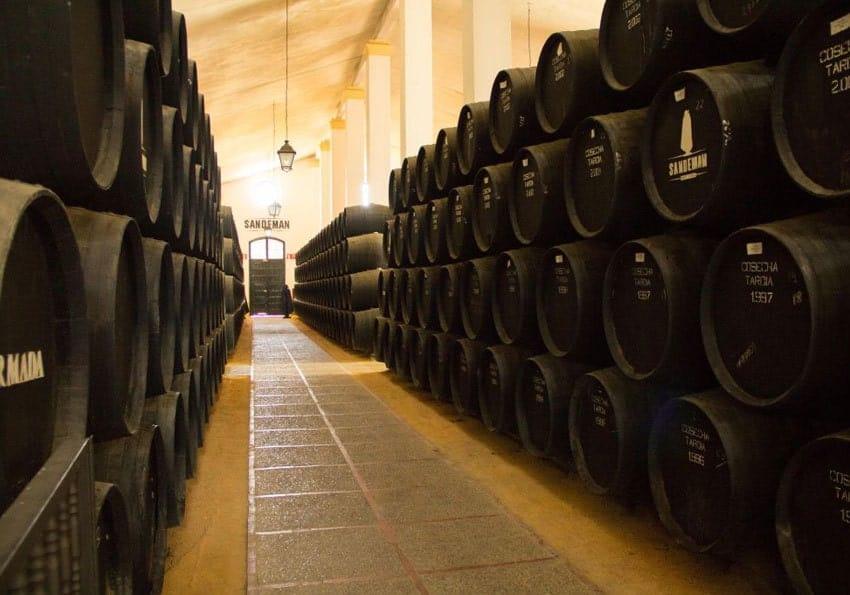Sherryfässer-in-Jerez-de-la-Frontera