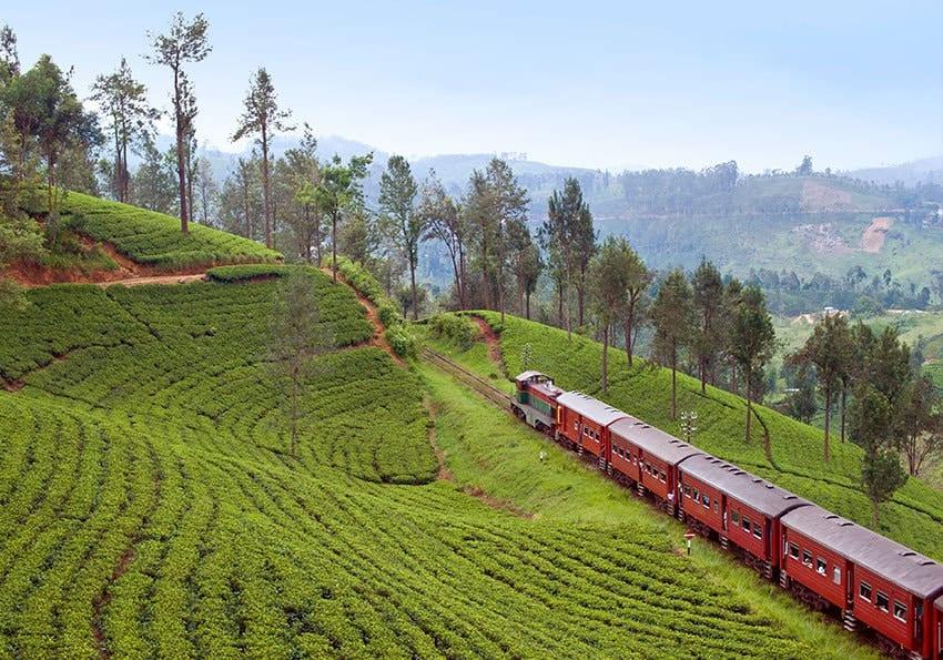Zugfahrt Sri Lanka Hochland