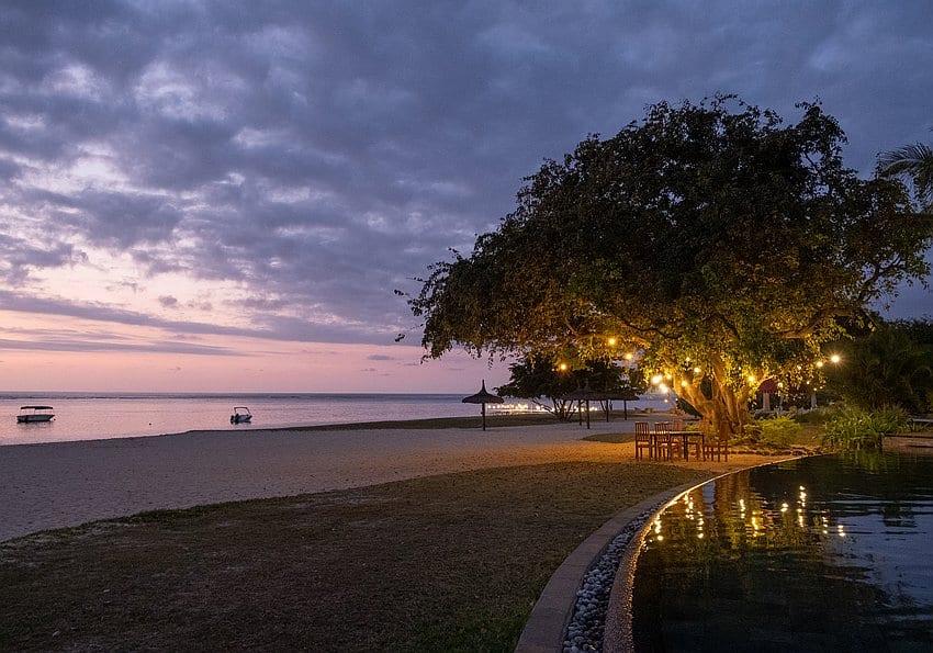 Abend Strand Maradiva
