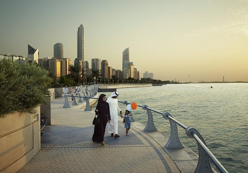 Abu Dhabi Corniche Walking