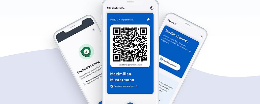 Covpass App Handyansichten