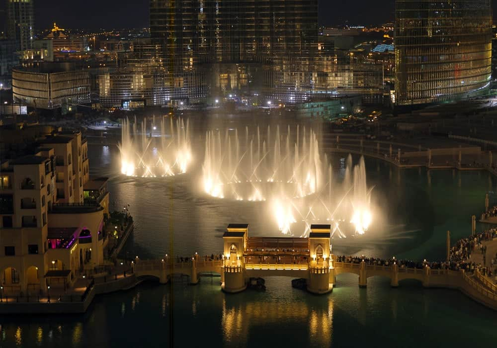 Wasserspektakel Dubai Fountain