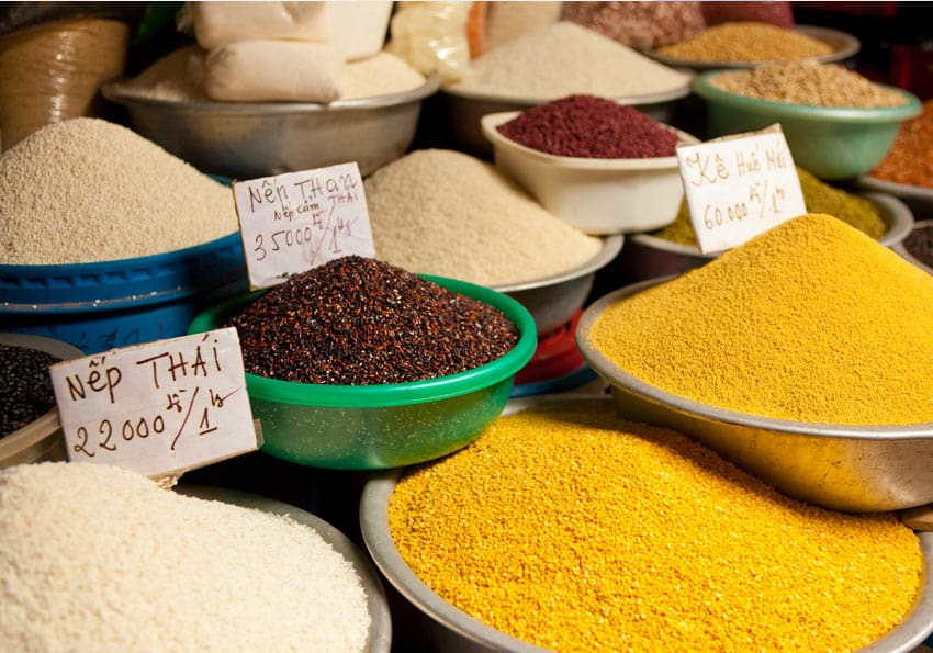 Getreide auf einem Markt