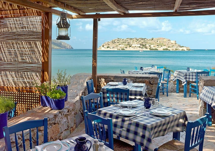 Kreta Blue Palace Blue Door Restaurant