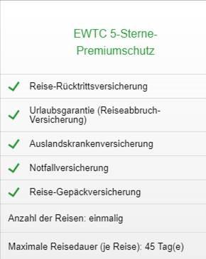 Reise-Ruecktrittsversicherung Hanse Merkur Premium