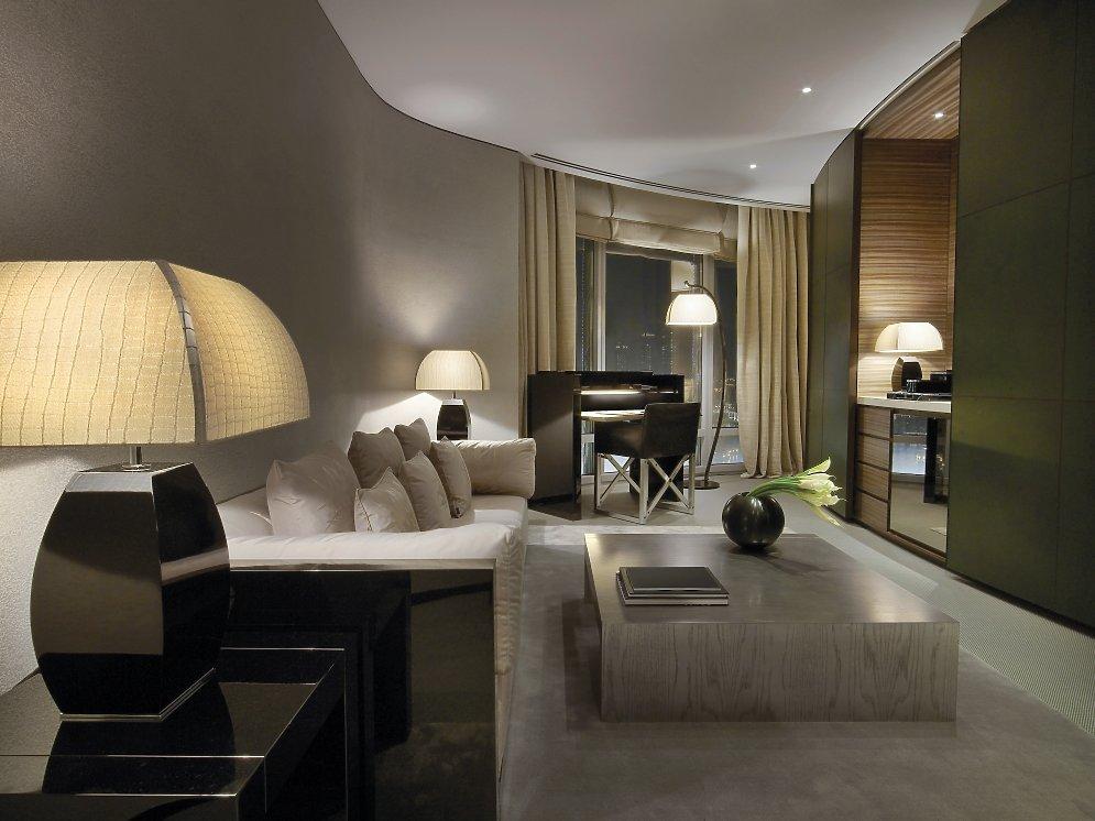Armani Fountain Suite Wohnzimmer