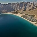 Blick auf die Bucht - Six Senses Zighy Bay