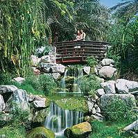 Gartenanlage des JA Jebel Ali Beach Hotel