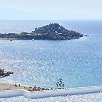 Blick zum Strand - Myconian Ambassador Relais & Chateaux