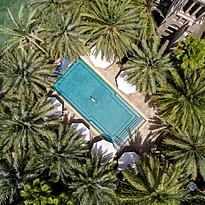 Einer der vielen Pools des Dar Al Masyaf