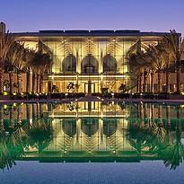 Infinity Pool und Lobby - Kempinski Hotel Muscat