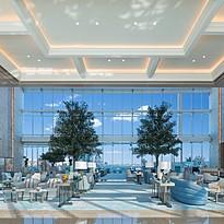 Lobby des Address Beach Resort