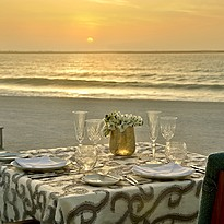 Privates Dinner am Strand