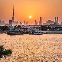 Skyline mit Burj Khalifa - InterContinental Festival City