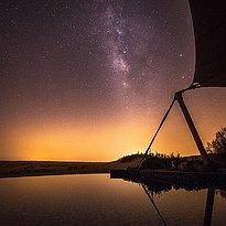 Sternenhimmel bei Nacht - Al Maha Desert Resort & Spa