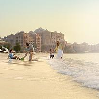 Strand des Emirates Palace