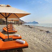 Strand des Six Senses Zighy Bay