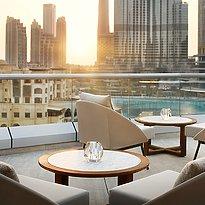 Terrasse der Club Lounge - The Address Downtown Dubai
