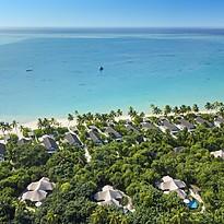 Villen aus der Vogelperspektive - Fairmont Maldives Sirru Fen Fushi