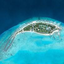 Vogelperspektive - Fairmont Maldives Sirru Fen Fushi