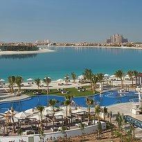 Strand und Lagunenpool Waldorf Astoria Dubai Palm Jumeirah