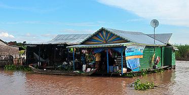 Schwimmendes Dorf Kompong Khleang