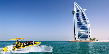 Yellow Boats Tour Palme und Burj