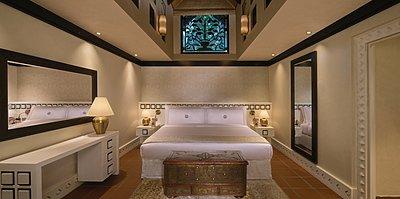 Hauptschlafzimmer der Two Bedroom Villa - Beit Al Bahar Villas