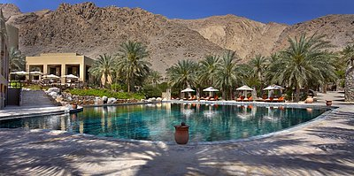 Hauptpool - Six Senses Zighy Bay