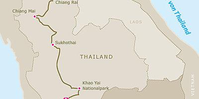 Karte Northern Rose