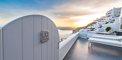 Premium Suite Eingang - Santorini Secret Suites & Spa