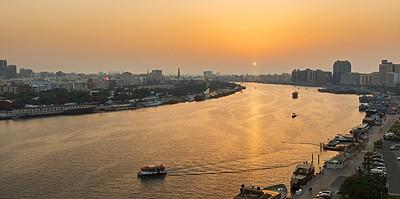 Sonnenuntergang vom Hotel - Sheraton Dubai Creek Hotel & Towers