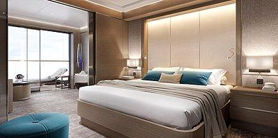 The Signature Suite Schlafzimmer - The Ritz-Carlton Yacht Collection