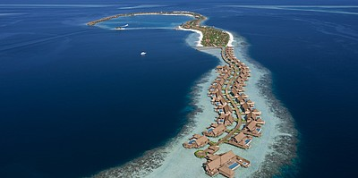 Vogelperspektive - Waldorf Astoria Maldives Ithaafushi