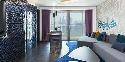 W Suite Wohnzimmer - W Dubai The Palm