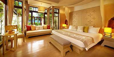 Melati Beach Resort & Spa - Pool Villa Suite Schlafzimmer