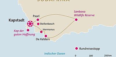 Kapstadt, Weinregion, Safari Selbstfahrerrundreise
