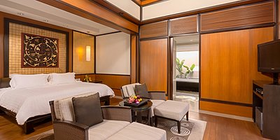 Grand 2 BR Pool Villa Schlafzimmer - Banyan Tree Phuket