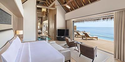 Overwater Villa / Reef Villa mit Pool Schlafzimmer - Waldorf Astoria Maldives Ithaafushi