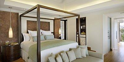 Raffles Praslin Seychelles - Schlafbereich Villa
